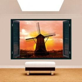 Ventanas 3D Molino Holanda