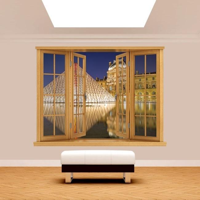 Ventanas 3D París Museo De Louvre