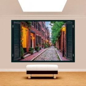 Ventanas 3D Boston Calles