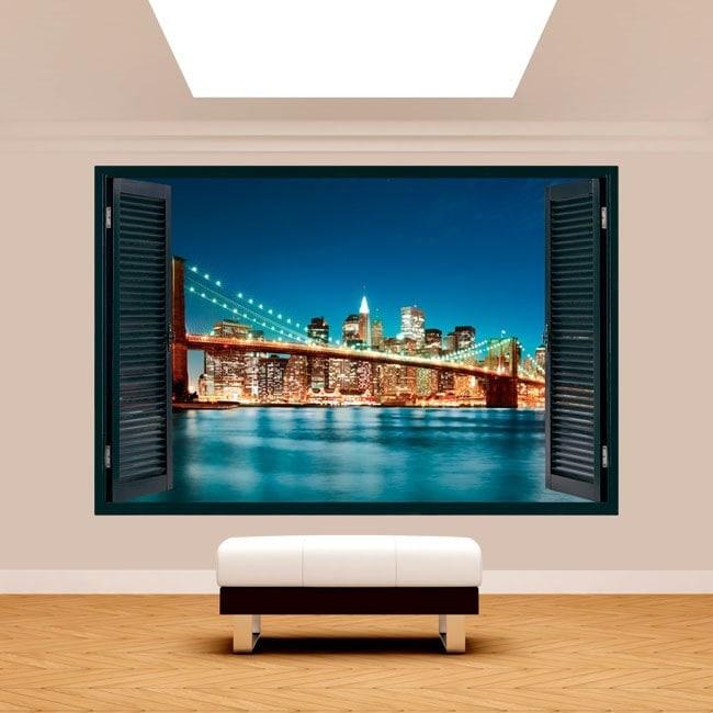 Ventana 3D Nueva York Ciudad