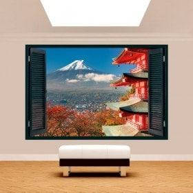 Ventana 3D Paredes Monte Fuji