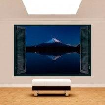 Ventanas 3D Lago Kawaguchi Y Monte Fuji