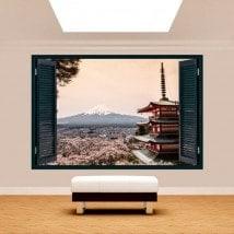 Ventana 3D Pagoda Monte Fuji