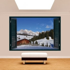 Ventanas 3D Montañas Alpes De Siusi Italia