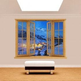 Ventanas 3D Montañas Alpes Austria