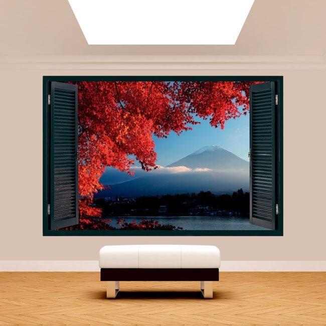 Ventanas 3D Paredes Monte Fuji