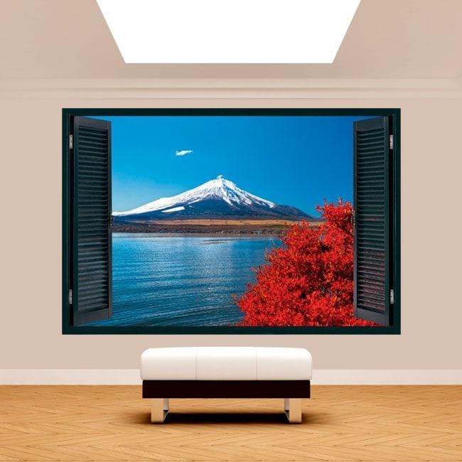 Ventanas 3D Lago Kawaguchi Monte Fuji
