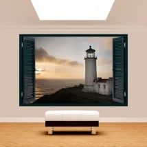 Ventana 3D Faro Costa Washington