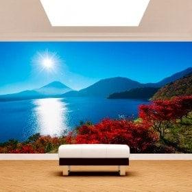 Fotomurales Atardecer Monte Fuji