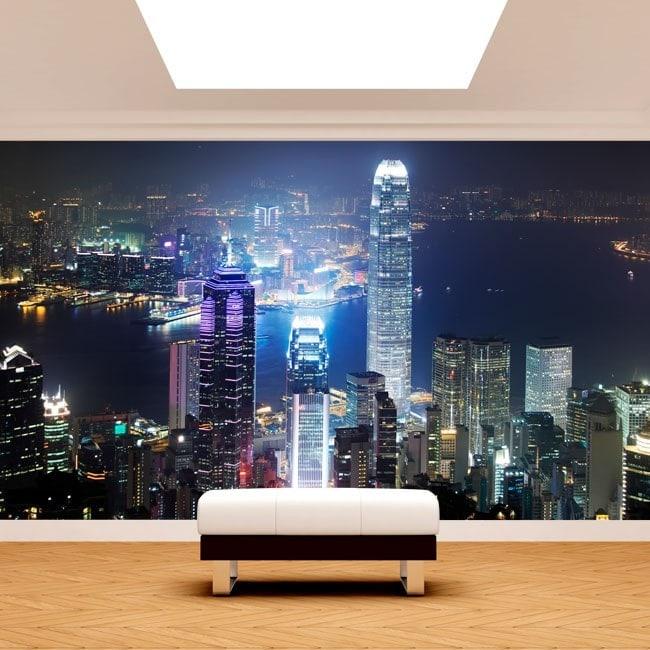 Fotomural Hong Kong Ciudad
