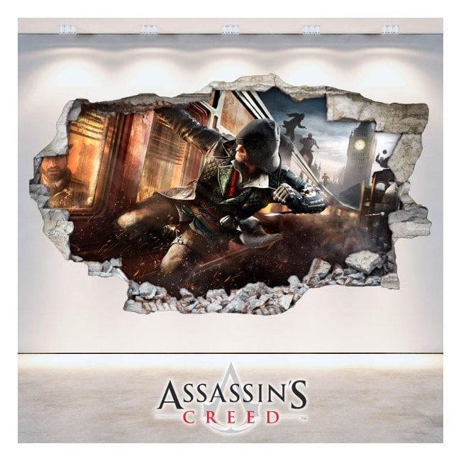 Vinilos Pared Rota 3D Assassin's Creed