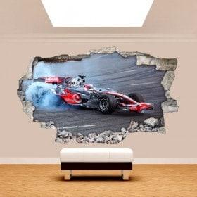 Vinilos Pared Rota 3D Fórmula 1