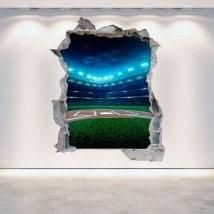 Vinilos Pared Rota 3D Béisbol