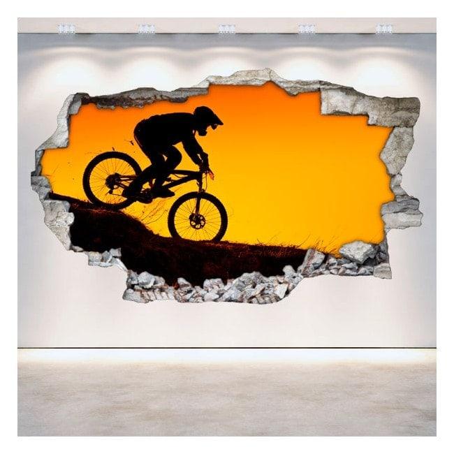 Vinilos Bicicleta Montaña 3D