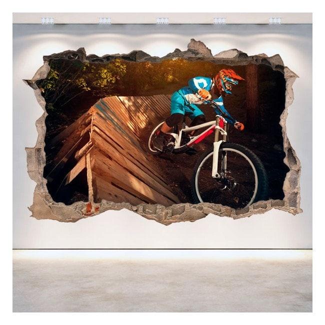Vinilos Pared Rota 3D Mountain Bike