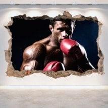 Vinilos 3D Boxeo