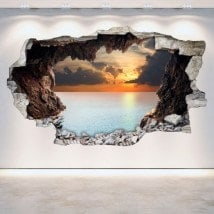 Vinilos Pared Rota Cuevas 3D