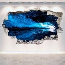 Vinilos Cuevas Pared Rota 3D