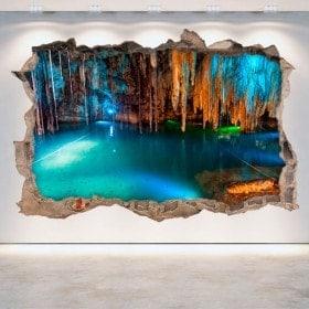 Vinilos Cuevas Y Grutas 3D