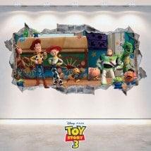 Vinilos Decorativos Toy Story 3 Pared Rota 3D