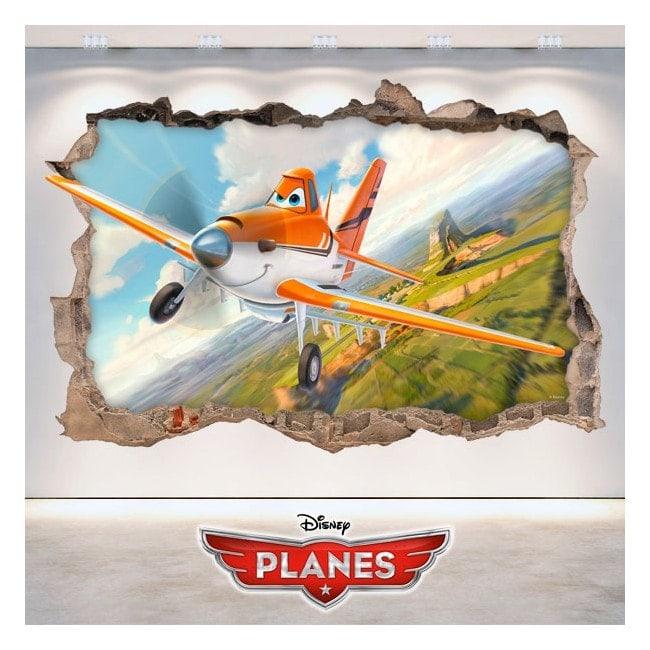 Vinilos Infantiles 3D Dusty Aviones