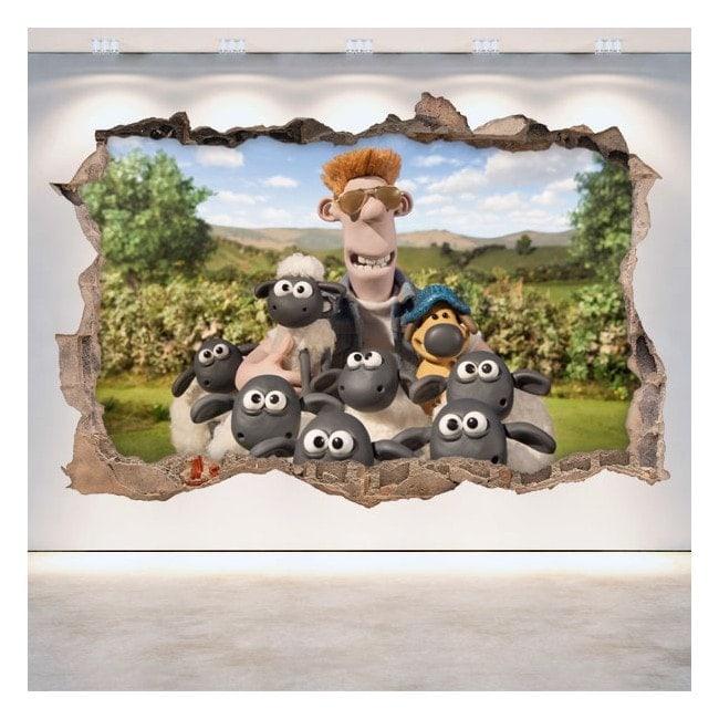 Vinilos Decorativos La Oveja Shaun 3D