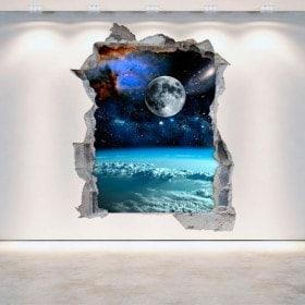 Vinilos 3D Espacio Y Planetas