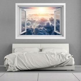 Ventanas 3D Rayos De Sol En Las Nubes