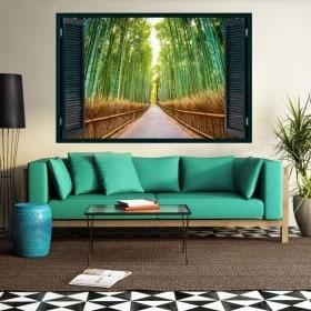 Ventanas 3D Carretera Y Bambúes