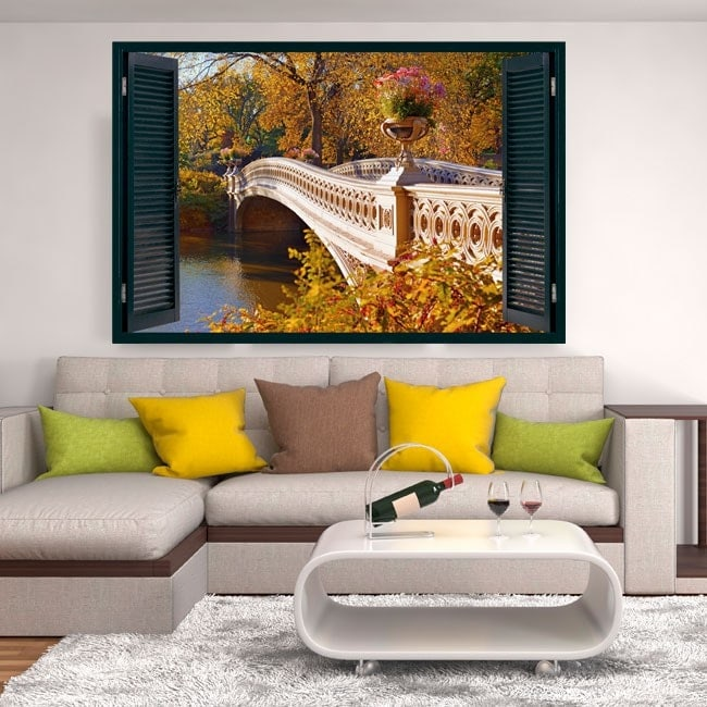 Ventanas Puente Sobre El Lago 3D