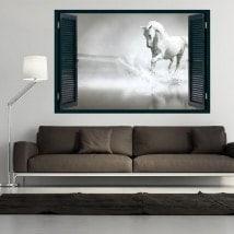 Ventanas 3D Caballo Blanco