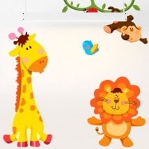 Vinilos Infantiles Kit Animales Zoo