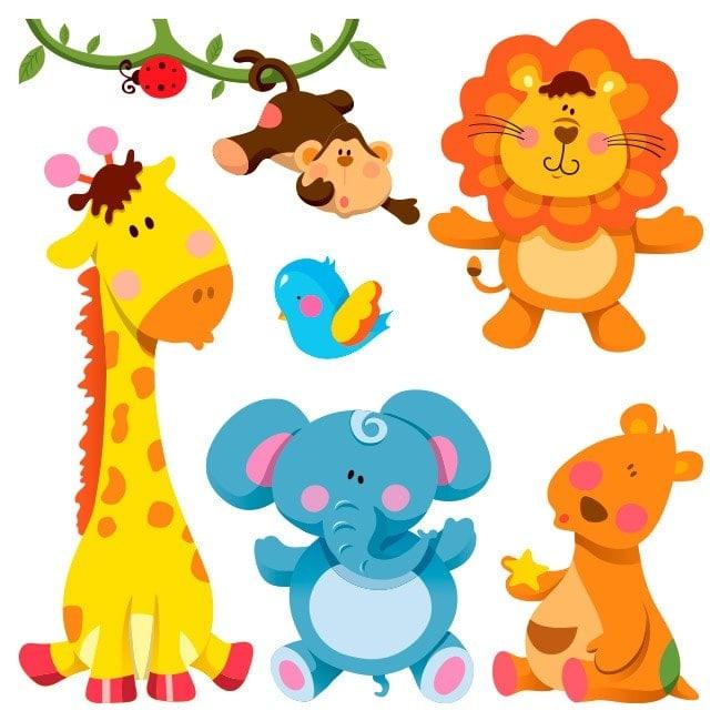 Vinilos infantiles kit animales zoo for Vinilos infantiles animales