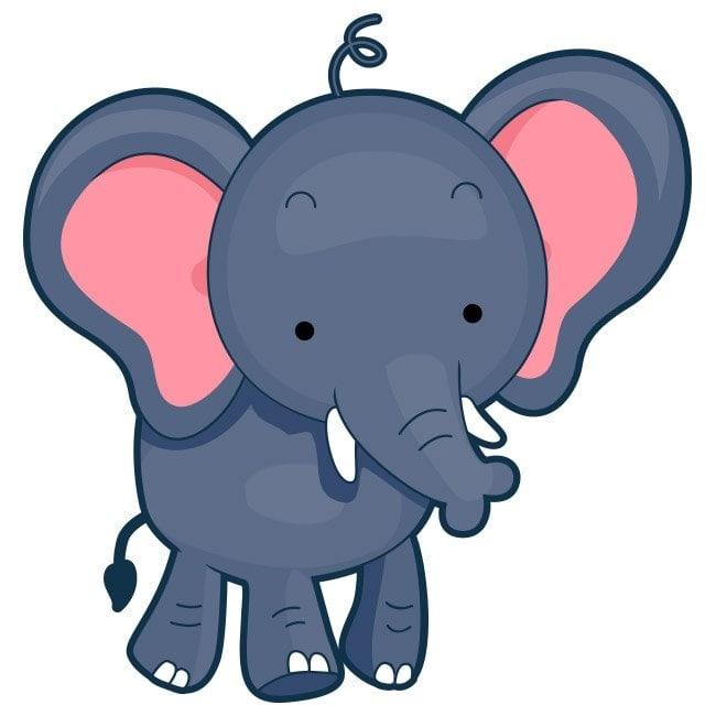 Vinilos elefante infantil for Vinilos para ninos bebes