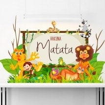 Vinilos Infantiles Hakuna Matata