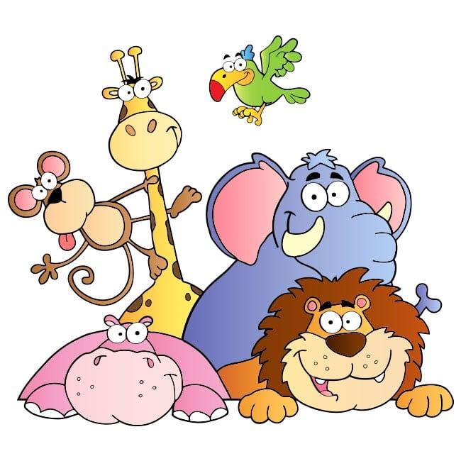 Vinilos Adhesivos Infantiles Animales Del Zoo
