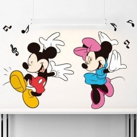 Vinilos Infantiles Mickey Y Minnie Mouse