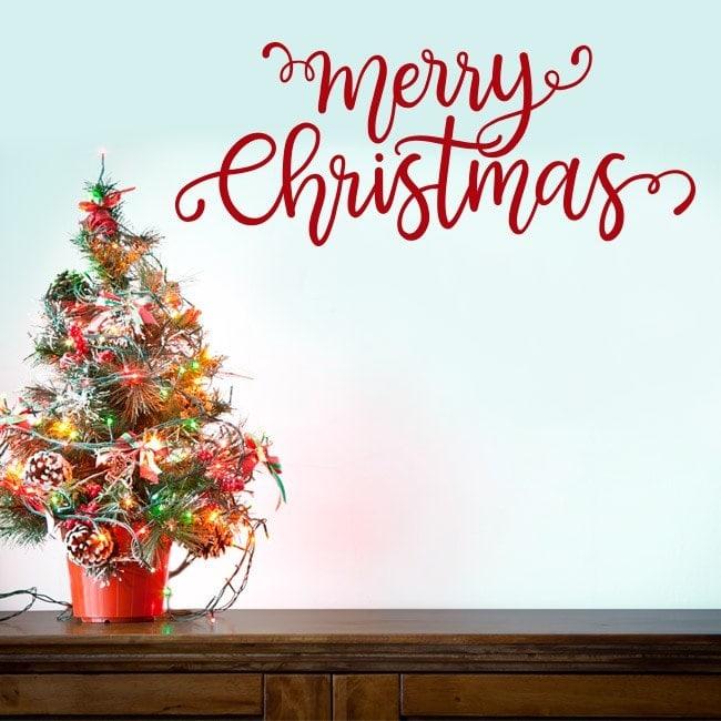 Vinilos Decorativos Merry Christmas