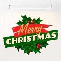Pegatina Merry Christmas