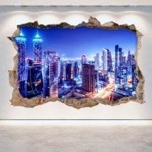 Vinilos 3D Dubai De Noche