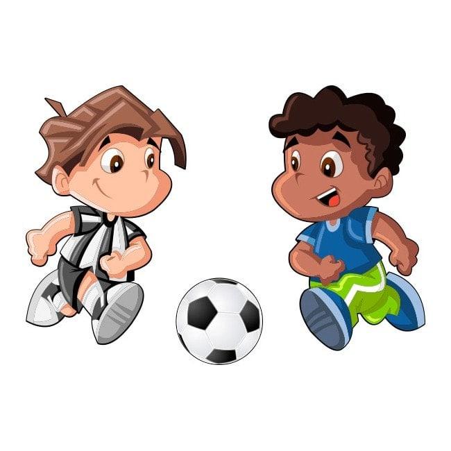 Vinilos Infantiles Ninos Jugando Futbol