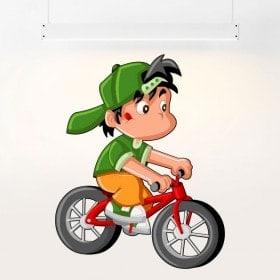 Vinilos Infantiles Niño Y Bicicleta