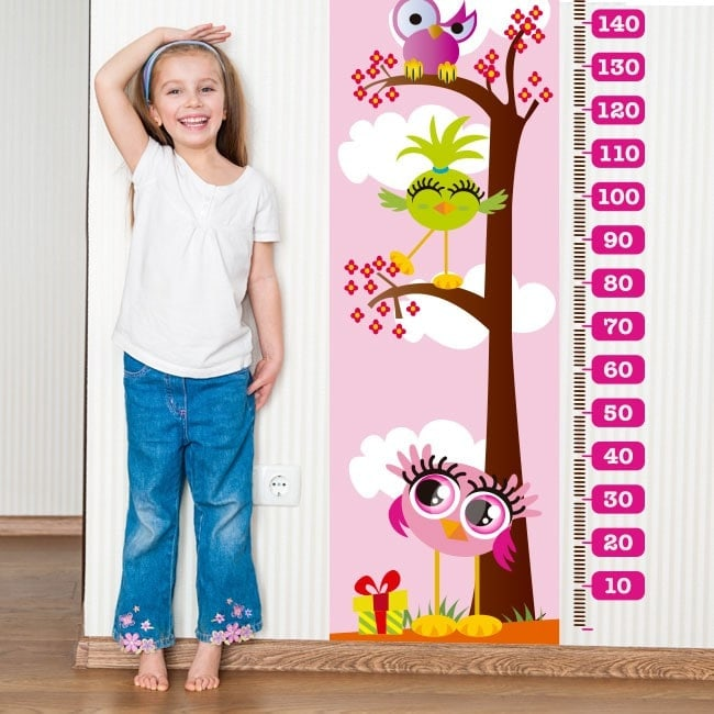 Vinilos Medidores Infantiles Días Rosas