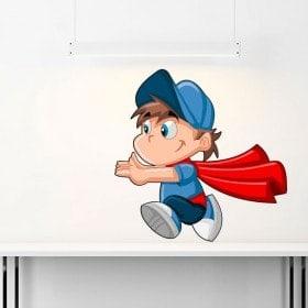Vinilos Infantiles Niño Superman