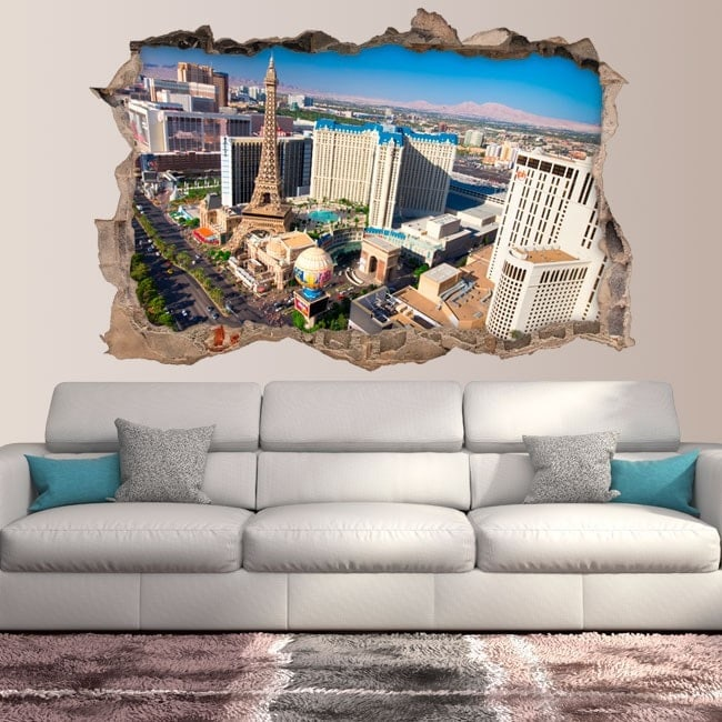 Vinilos 3D Pared Rota Las Vegas