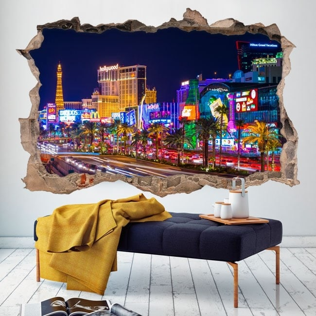 Vinilos 3D Las Vegas Ciudad