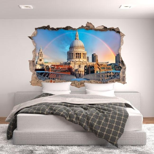 Vinilos 3D Arcoíris En Londres