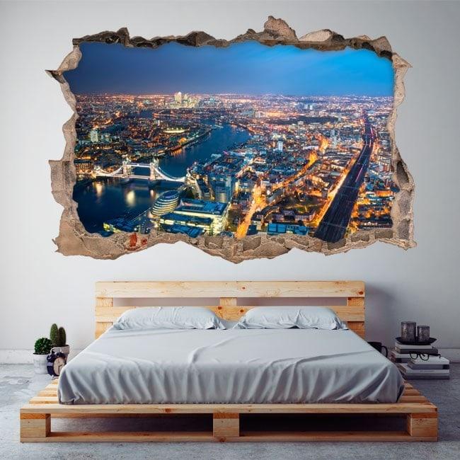 Vinilos 3D Vista Aérea Ciudad De Londres