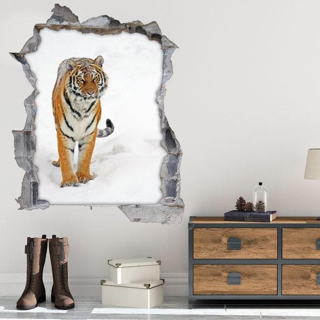 Vinilos 3D Tigre Siberiano