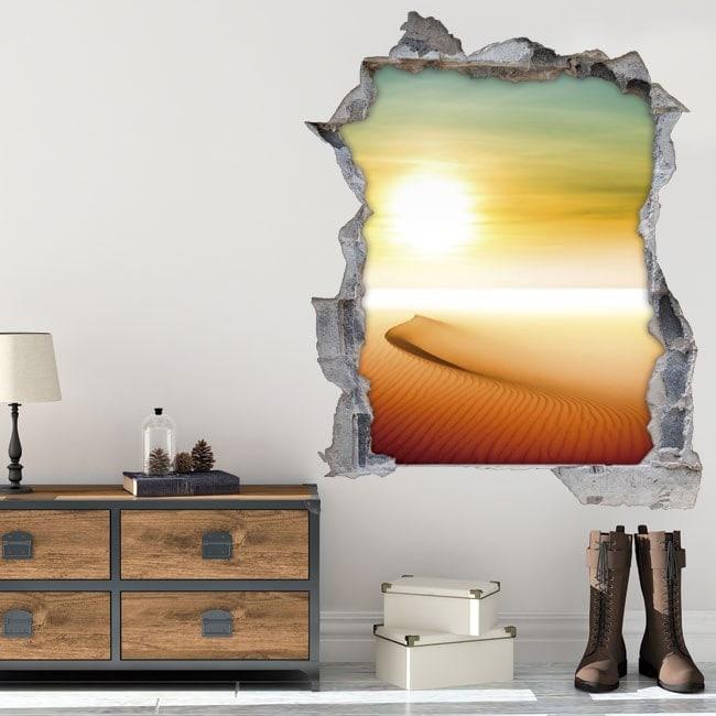 Vinilos 3D Sol En El Desierto